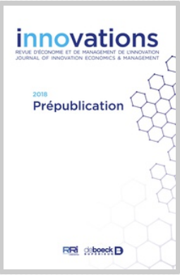 Revue d'économie et de management de l'innovation, (56), Janvier.
